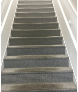 Before Stair Tread Replacement Central Illinois