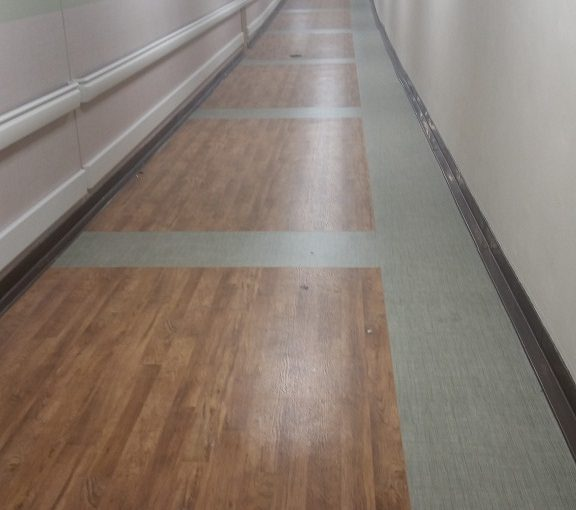 Corridor Sheet Vinyl Pattern Central Illinois Commercial